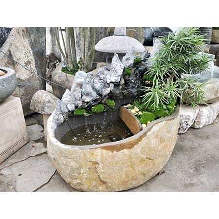 Stone Water Fountains - 3-2,Pebble-m-02