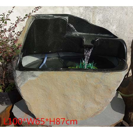 Outdoor Garden Fountains - 3-3,Pebble-m-03